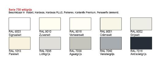 penseelfix dekkend seriedoos 750 met 10 wit grijze ral kleuren. Black Bedroom Furniture Sets. Home Design Ideas